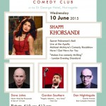 10 JUNEShappi Khorsandi, Dave Johns, Gordon Southern & Dan Nightingale